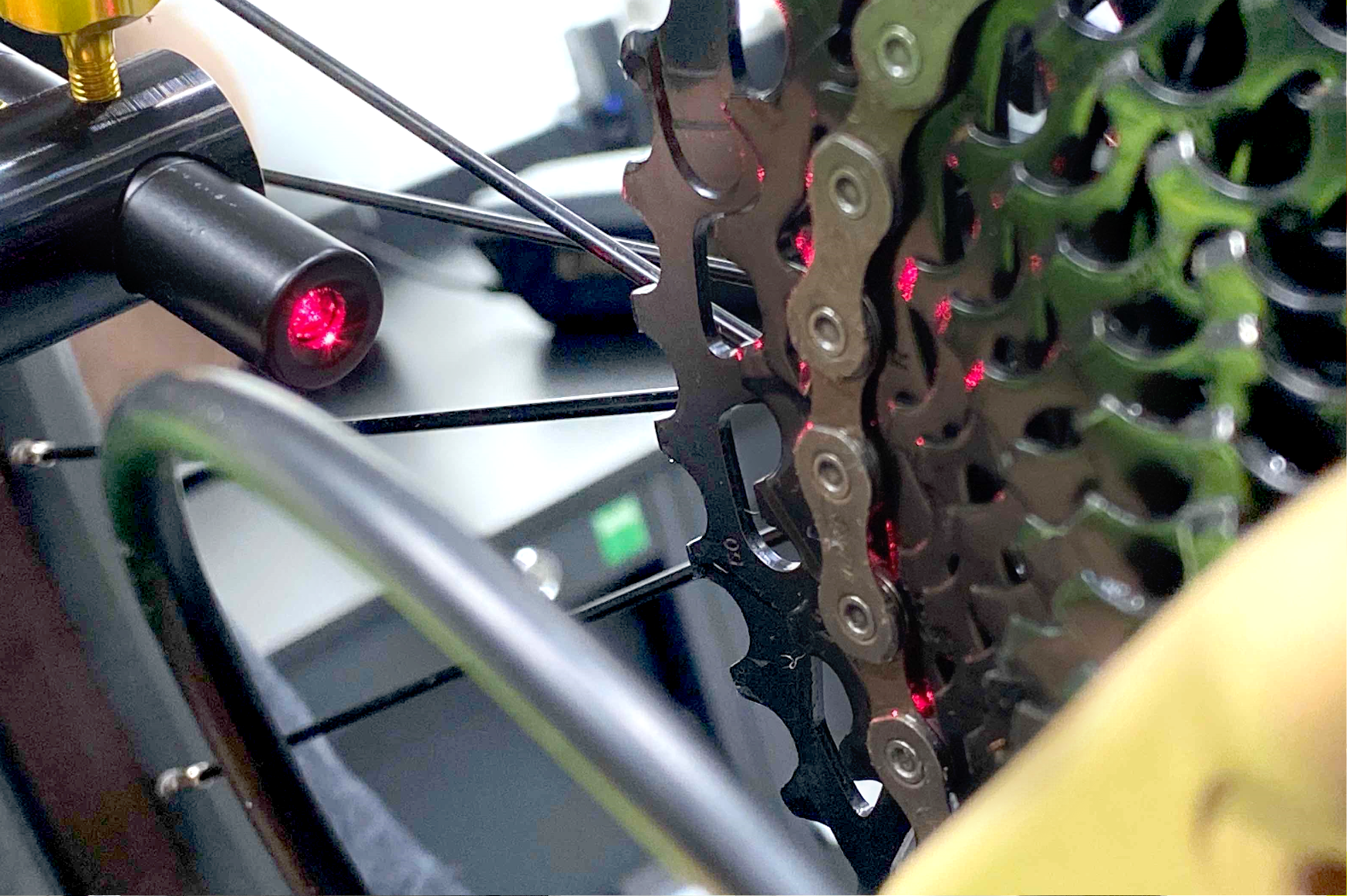 Schaltung einstellen via Laservermessung